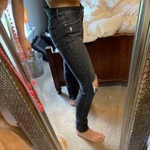 Black Levi 711 skinny jeans